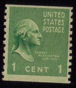 US Sc 839 Mint Unused 1c Green No Gum Very Fine