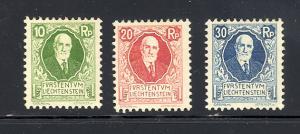 Liechtenstein B1-3  Mint F-VF