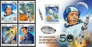 Z08 IMPERF ANG190107ab ANGOLA 2019 Apollo 11 MNH ** Postfrisch