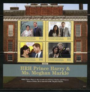 GRENADA GRE. 2018 MARRIAGE OF PRINCE HARRY & MEGHAN MARKLE SHEET MINT NH