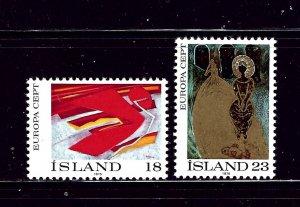 Iceland 478-79 MNH 1975 Europa