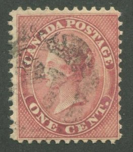 CANADA #14 USED 4-RING NUMERAL CANCEL 21
