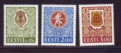 Estonia Sc 266-8 1994 Song Festival stamp set mint NH