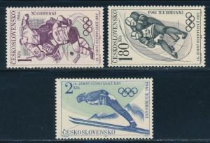 Czechoslovakia - Innsbruck Olympic Games MNH Set #1220.22 (1964)