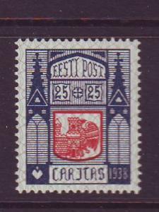 Estonia Sc B38 1938 Haapsalu Arms stamp mint NH