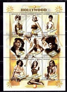 Senegal 1424 MNH 1999 Female Movie Stars  sheet of 9