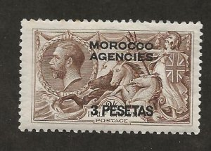 GREAT BRITAIN OFFICES - MOROCCO SC# 55  FVF/MOG 1914