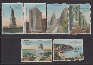 CINDERELLA STAMPS  ON US DIFFERENT PLACES TO VISIT   (6)   LOT#C-174