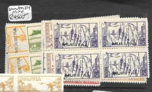 BOLIVIA (P1703B) A/M  SC C63 -71 OVPT MUESTRA SPECIMEN   BL OF 4 MNH