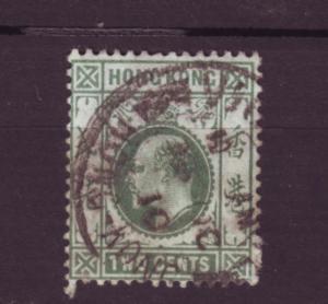 J2747 JLS stamps 1904-11 hong kong used #87 $2.25v king