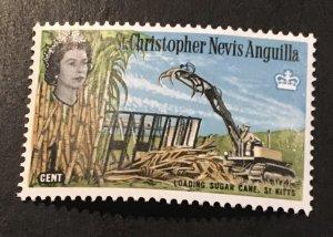 St Christopher-Nevis Scott 146 QEII Definitive One Cent-Mint