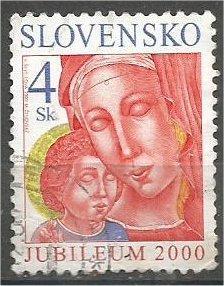SLOVAKIA, 2000, used 4k, Holy Year, Scott 364