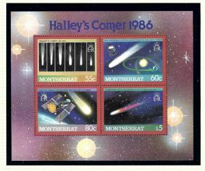 Montserrat 614 MNH 1986 Haleys Comet S/S
