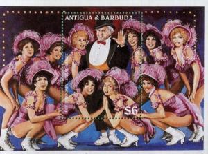 MICKEY ROONEY & SUGAR BABIES #2038 Souvenir Stamp Sheet Antigua & Barbuda E40