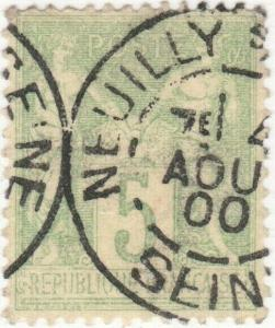 FRANCE - 1900 - CàD  NEUILLY-s/SEINE / SEINE  sur Yv.102 5c t.III