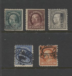 STAMP STATION PERTH US. #434,435, 437-439 Used