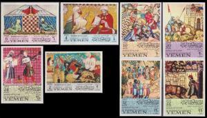 1967Yemen (Kingdom)412-419bSpanish artists12,00 €