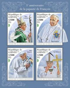Guinea - 2018 Pope Francis - 4 Stamp Sheet - GU18503a