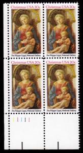 US #2107 Madonna and Child; MNH P# Block of 4 (1.70)
