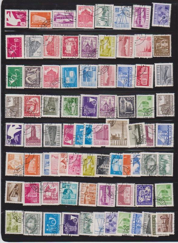 LOT OF DIFFERENT STAMPS OF ROMANIA  USED (80 LOT#139