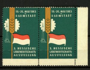 Germany 1963 Darmstadt Exhibition Labels
