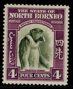 NORTH BORNEO GVI SG306, 4c bronze-green & violet, M MINT. Cat £20.