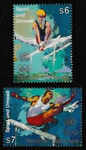 United Nations Vienna 205-206 Sport und Umwelt S6 S7 set MNH 1996