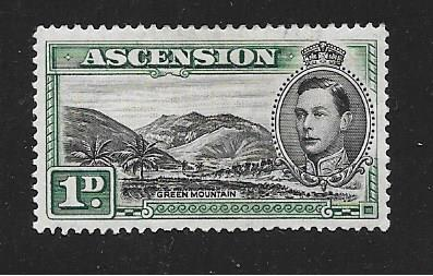 Ascension  Scott #41  Mint H  has very small tear  Scott CV $30.00