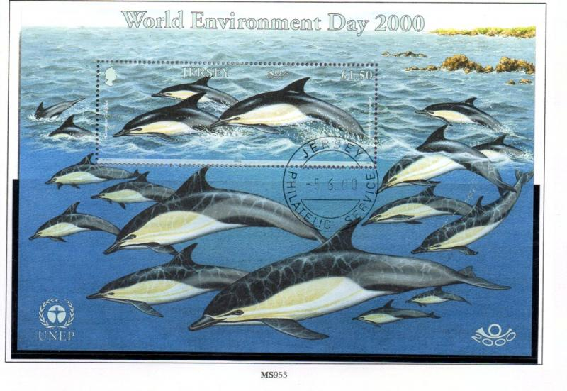 Jersey  Sc 957 2000 Maritime Mammals stamp sheet used