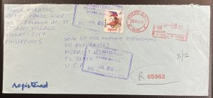 Philippines #2221a (A610h) Used F/VF on Registered Cover c1994-1996 [CVR194]