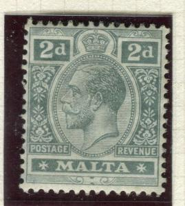 MALTA; 1914 early GV issue fine Mint hinged Shade of 2d. value