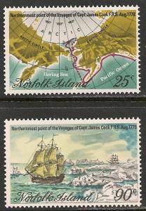Norfolk Island #235-36 VF MNH - 1978 Maps & Capt. Cook