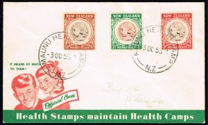 NEW ZEALAND STAMP HEALTH CAMPS STAMP COVCER