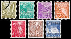 Switzerland 1934 Sc 219-23 mh & u f-vf
