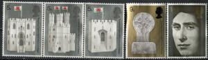 Great Britain; 1969: Sc. # 595-599: **/MNH Cpl. Set NO GUM