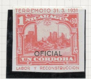 Nicaragua 1931 PROOF Issue Fine Mint Hinged 1Cor. Optd Official NW-14280