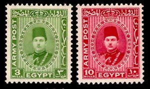 EGYPT Scott M14-M15 1939 Army Post set MH*