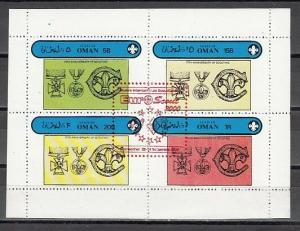 Oman State, 2000 Local issue. Euro-Scout 2000, RED o/print on Scout sheet