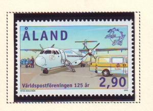 Aland Finland Sc 159 1999 UPU Anniversary stamp mint NH