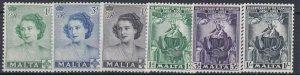 MALTA  1950 - 51  PRINCESS ELIZABETH & SCAPULAR SET  MH