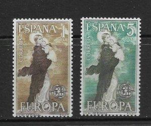 SPAIN - EUROPA 1963 - SCOTT 1180 TO 1181 - MNH