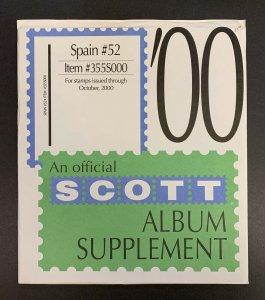 Spain 2000, Scott Specialty Album Supplement #52, Scott Item #355S000