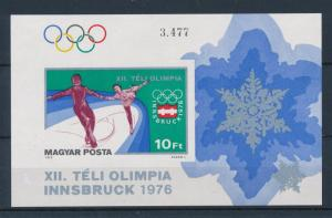 [46691] Hungary 1975 Olympic games Innsbruck Figure skating Imperf. MNH Sheet