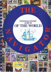 WORLD STAMP ALBUM 1991 NAVIGATOR BRAND NEW SPIRAL BOUND LAYS FLAT  +  FREE GUIDE