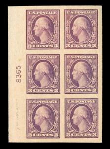 momen: US Stamps #484 Plate Block of 6 MNH OG XF-SUP