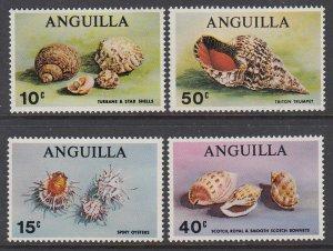 Anguilla 74-77 Seashells MNH VF