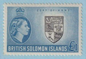 BRITISH SOLOMON ISLANDS 105  MINT NEVER HINGED OG ** NO FAULTS EXTRA FINE!