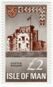 (I.B) Elizabeth II Revenue : Isle of Man £2 (Castle Rushen)