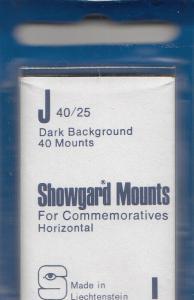 SHOWGARD BLACK MOUNTS J 40/25 (40) RETAIL PRICE $3.95