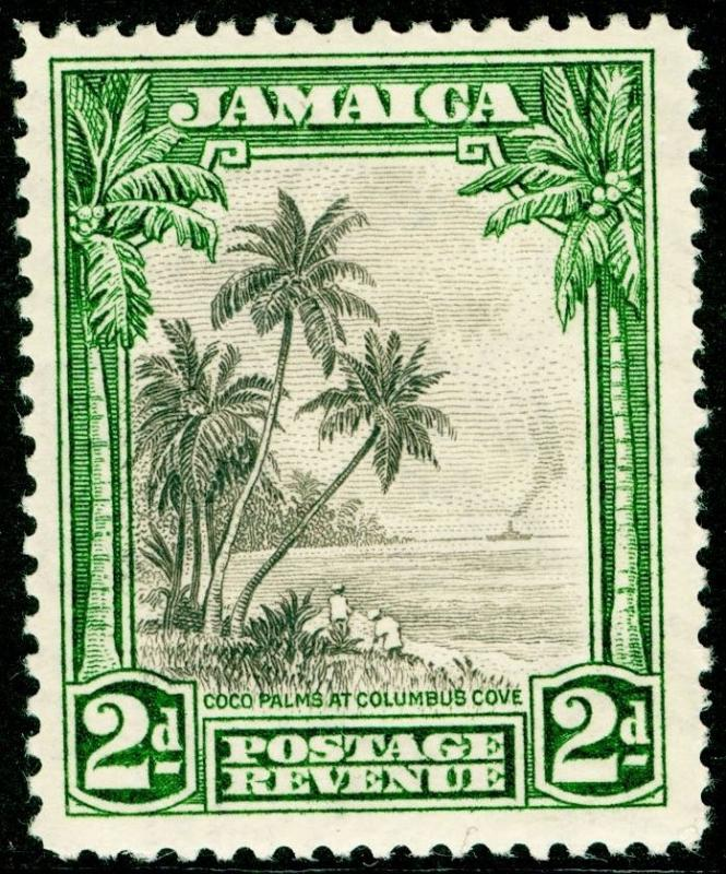 JAMAICA SG111, 2d Black & Green, NH MINT. Cat £28.